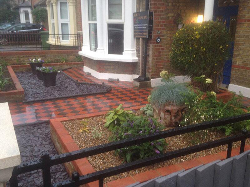 victorian garden pathway ruxley landscapes bexley kent